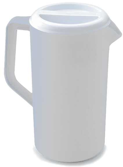 White Pitcher with Cover #RB3063RDBLA
