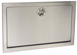 Stainless Steel Horizontal Built-in Baby Changing Station Bobrick KB110-SSRE #BOKB110SSRE