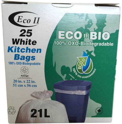 OXO-Biodegradable garbage bags for kitchen use 20 X 22 #GO720257000