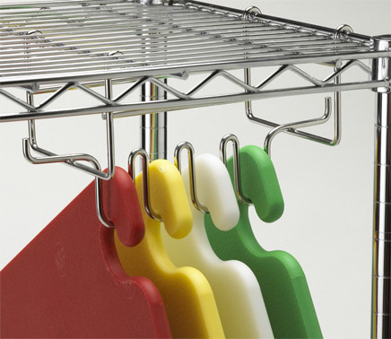 Shelf-mounting hanging rack for cutting boards #AL0CNCRK000