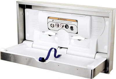 Clad Stainless Steel Diaper Changing Station #FD100SSCSM0