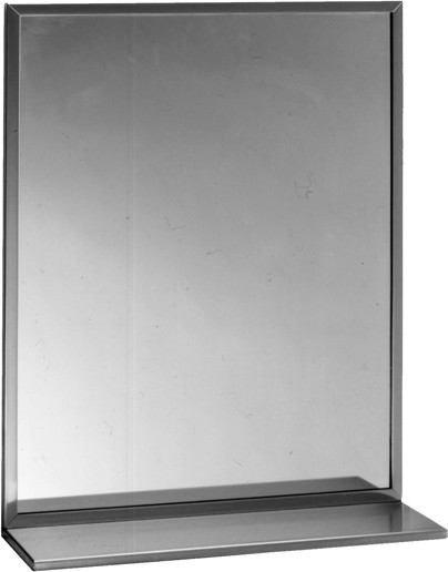 Miroir avec tablette et cadre biseaut bo166183600 for Miroir montreal