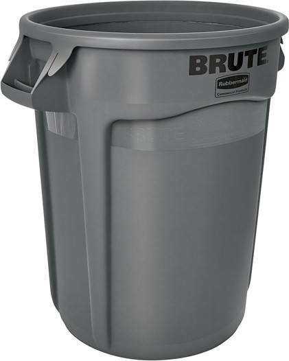Poubelle Brute ronde 32 gal 2632 #RB002632GRI