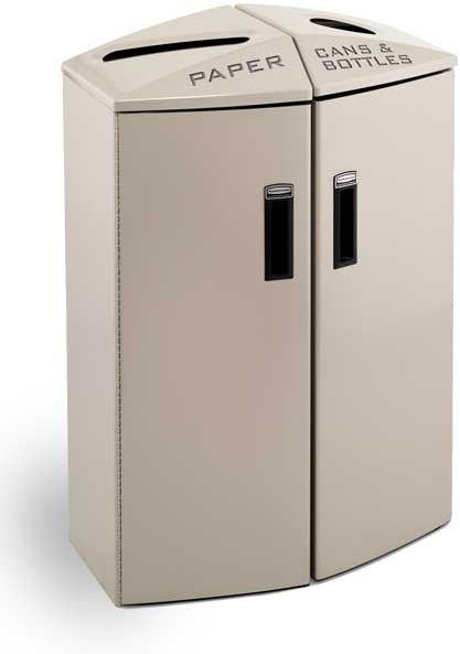 station de recyclage deux sections avec bandes de. Black Bedroom Furniture Sets. Home Design Ideas