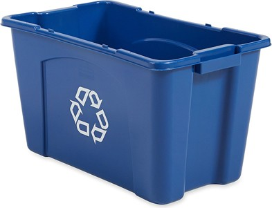 Resin Recycling Box, 18 gal #RB571873BLE