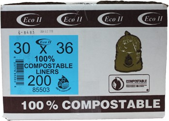 Biodegradable Garbage Bags 30 x 36 #GO085503000