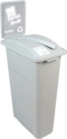 Single Container for Paper Waste Watcher, Grey Container #BU101039000