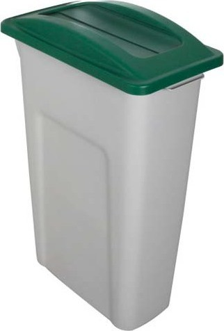 Single Container with Swing Lid Waste Watcher, Grey-Green #BU104348000