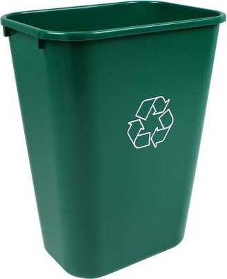 Recycling Wastebasket BILLI BOX, 10 gal #BU102338000