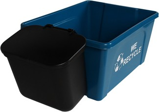 Recycling Container and Hanging Waste Basket We Recycle OFFICE COMBO #BU101398000