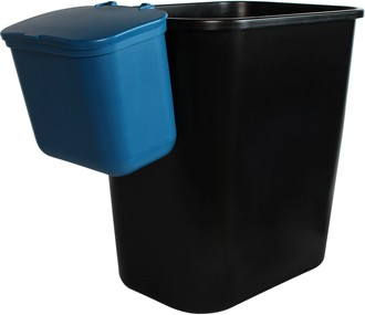 Recycling Container and Hanging Waste Basket Double OFFICE COMBO #BU101411000