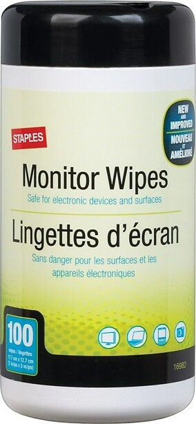 Monitor Cleaning Wipes Staples #EM775488000