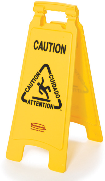 "6112 Floor Safety Sign ""Caution"" Multilingual 2 Sided #RB006112000"